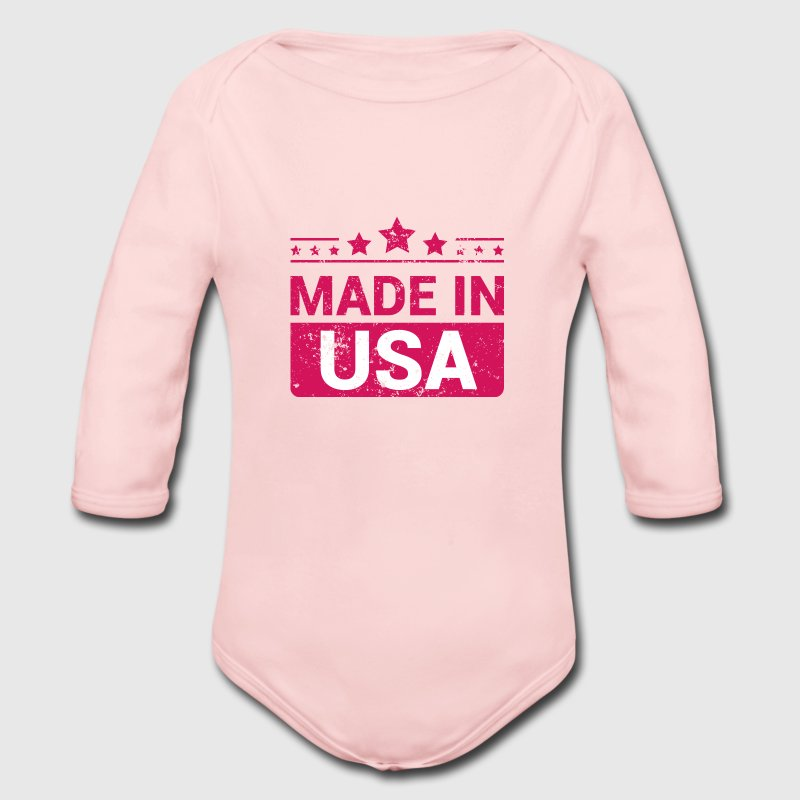 Made in USA - Vintage Baby Bodysuits - Long Sleeve Baby Bodysuit