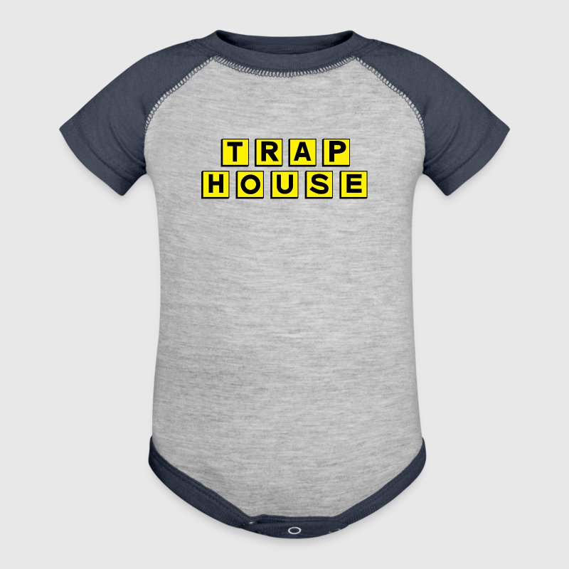 Trap House Baby Bodysuits - Baby Contrast One Piece
