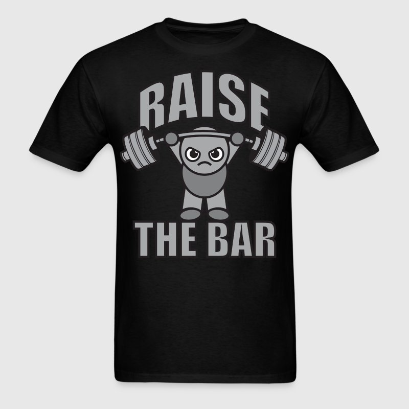 Raise The Bar - Cute Kawaii Weightlifter (grey) T-Shirts - Men's T-Shirt
