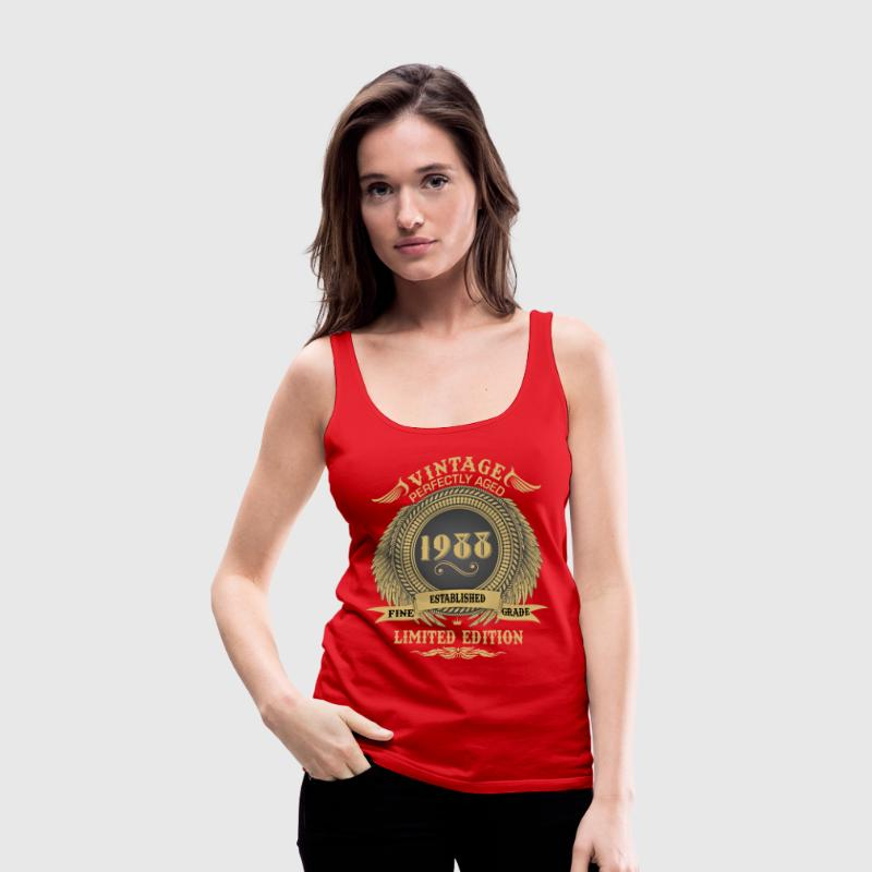 Vintage Perfectly Aged 1988 Limited Edition Tanks - Women's Premium Tank Top
