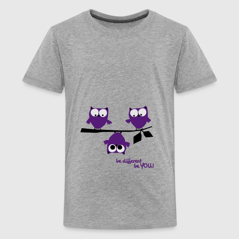 3 owls be different, be you | funny owl shirt Hoodies - Kids' Premium T-Shirt