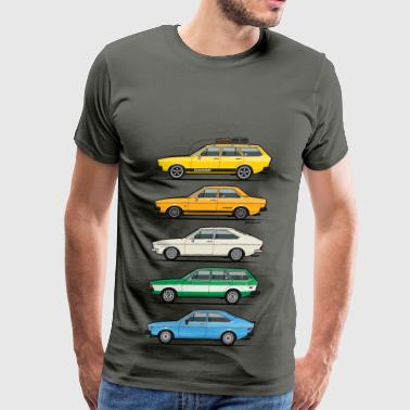 Stack of VAG B1 VDubs and Four Rings Sportswear - Men's Premium T-Shirt