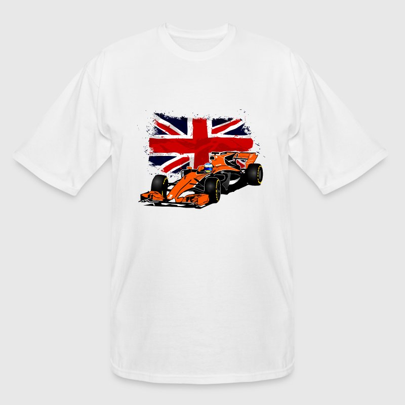 Formula One - Formula 1 - UK Flag T-Shirts - Men's Tall T-Shirt