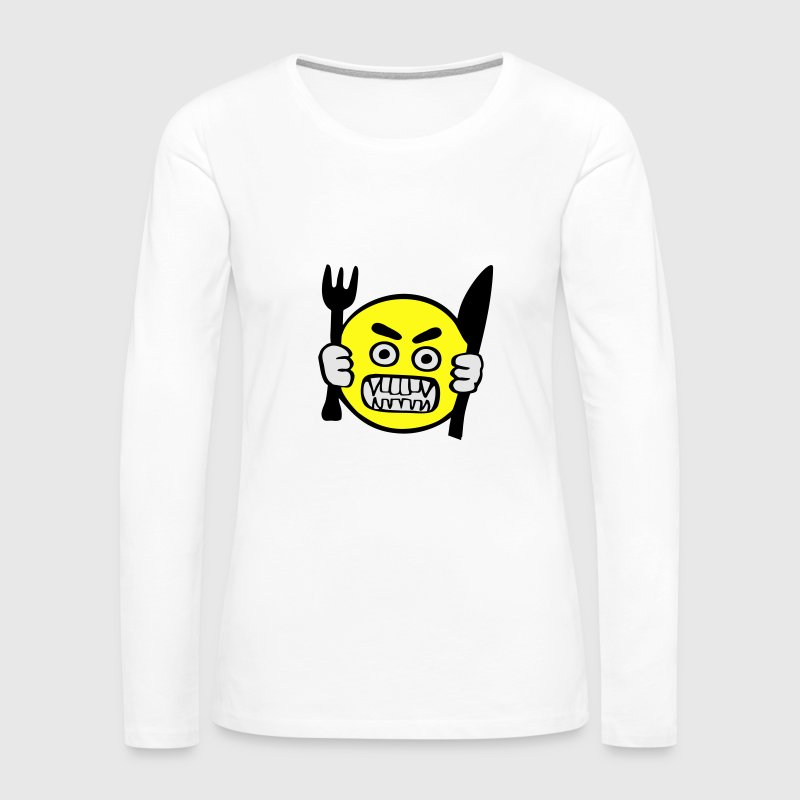 Hungry, Hangry  Long Sleeve Shirts - Women's Premium Long Sleeve T-Shirt