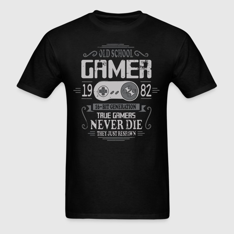 Old School Gamer 1982 Birthday T-Shirts - Men's T-Shirt