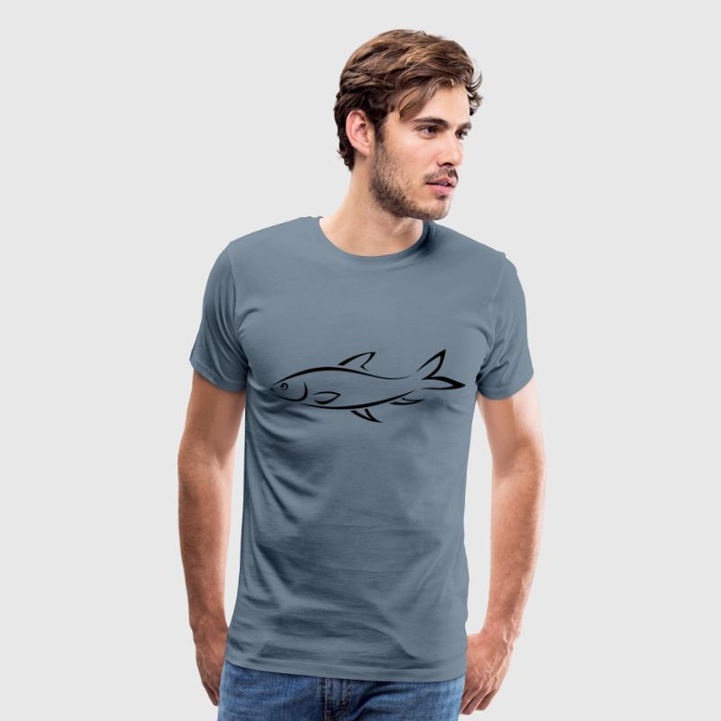 Fish Line Art - Men's Premium T-Shirt