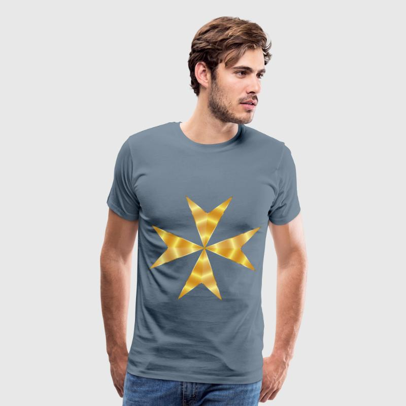 Gold Maltese Cross Mark II No Background - Men's Premium T-Shirt