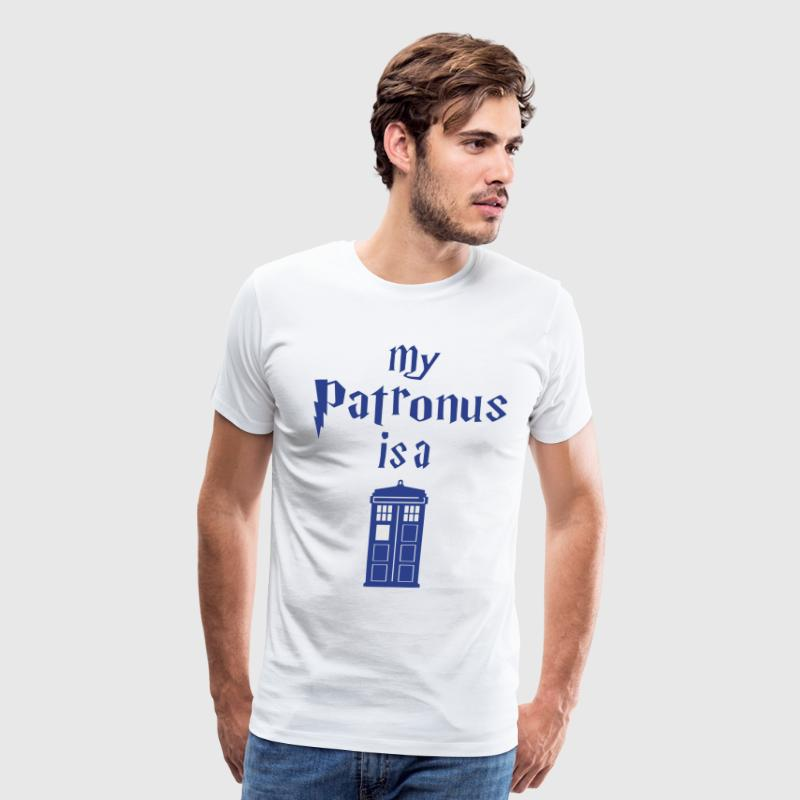 my patronus is a tardis T-Shirts - Men's Premium T-Shirt