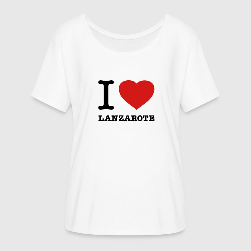 I LOVE LANZAROTE - Women's Flowy T-Shirt