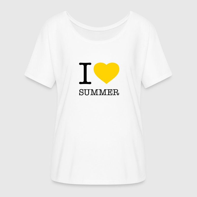 I LOVE SUMMER - Women's Flowy T-Shirt