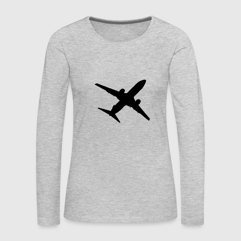 Airplane Long Sleeve Shirts - Women's Premium Long Sleeve T-Shirt