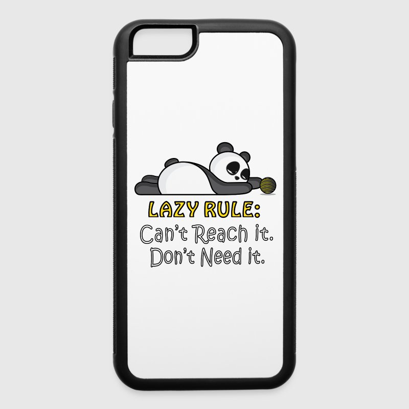 Lazy Panda Phone & Tablet Cases - iPhone 6/6s Rubber Case
