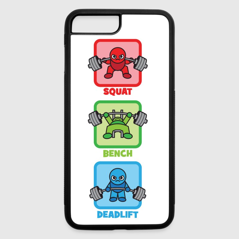 Kawaii Powerlifter - Squat, Bench Press, Deadlift Accessories - iPhone 7 Plus Rubber Case