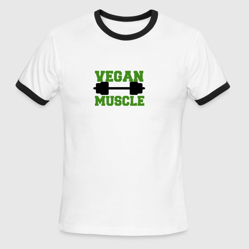 Vegan muscle - Men's Ringer T-Shirt