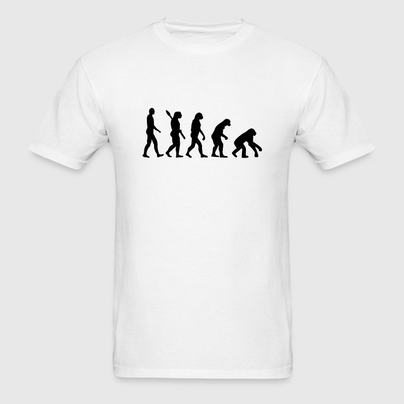 Evolution backwards T-Shirts - Men's T-Shirt