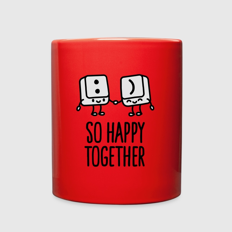 Keyboard keys smiley - So happy together Mugs & Drinkware - Full Color Mug