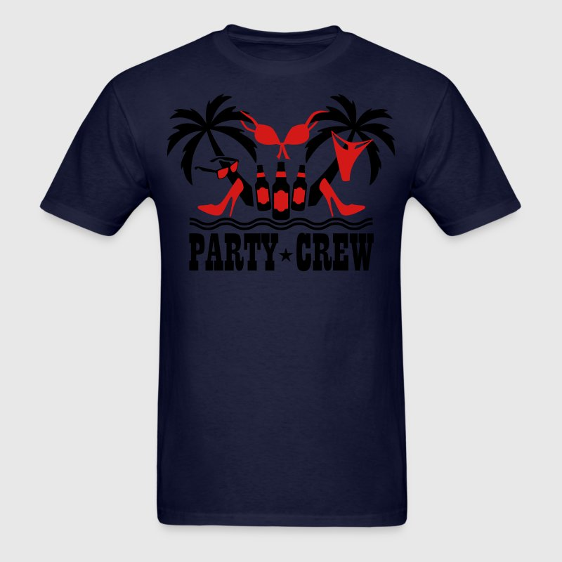 18 Party Crew Palm beach party funny T-Shirt - Men's T-Shirt