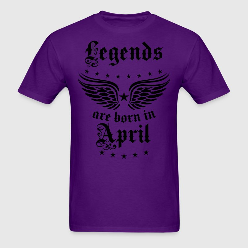 Legends are born in April birthday Cool T-Shirt - Men's T-Shirt