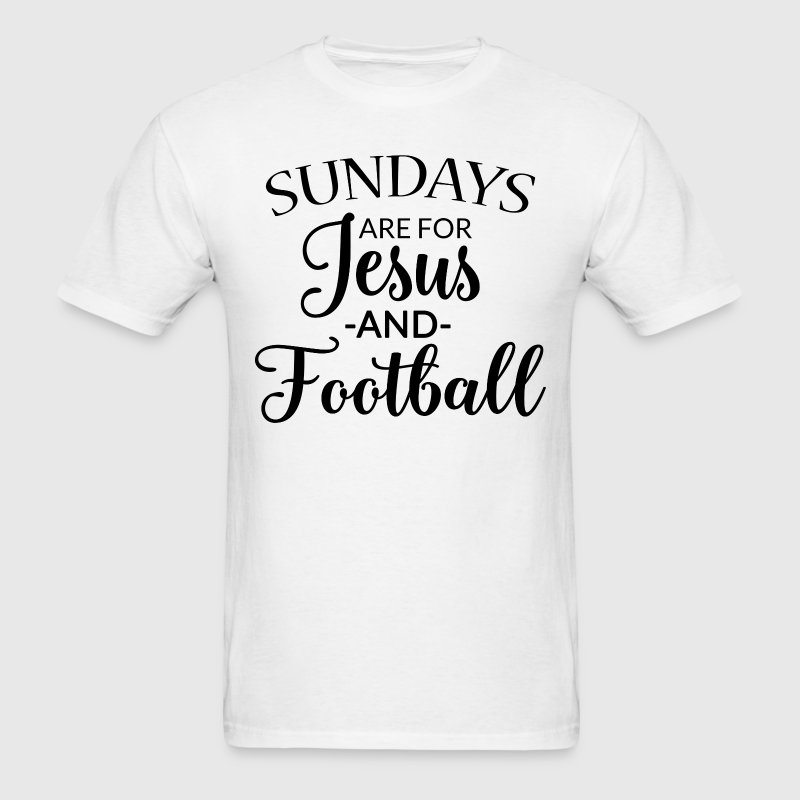 Sundays are for Jesus and Football Men's tee - Men's T-Shirt