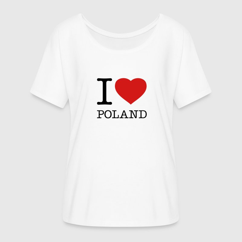 I LOVE POLAND - Women's Flowy T-Shirt