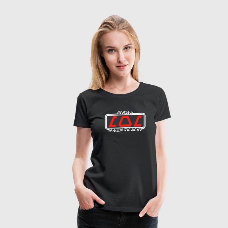 Best Mom in the Galaxy (Aurebesh) T-Shirts - Women's Premium T-Shirt