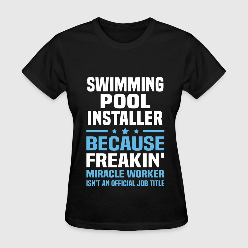 swimming pool installer t shirt spreadshirt