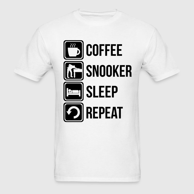 Coffee Snooker Sleep Repeat - Men's T-Shirt