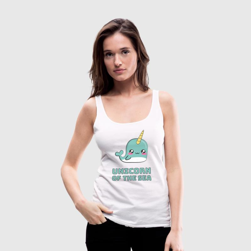 Narwhal Unicorn of the Sea Tanks - Women's Premium Tank Top