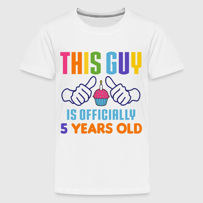 Officially 5 Years Old Kids' Shirts - Kids' Premium T-Shirt