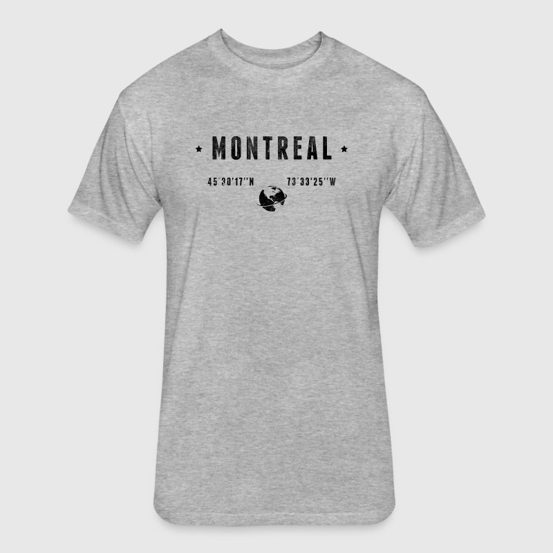 Montreal T-Shirts - Fitted Cotton/Poly T-Shirt by Next Level