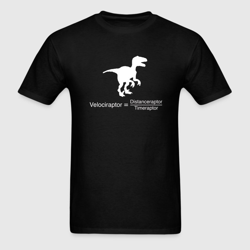 velociraptor funny science - Men's T-Shirt