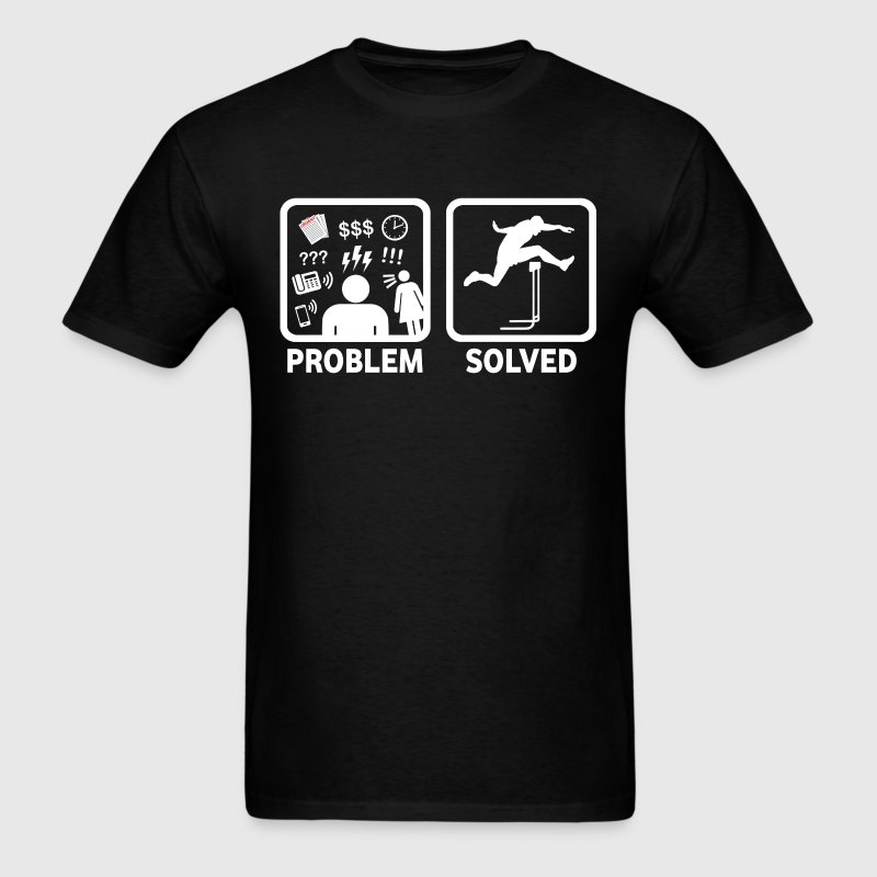 Problem Solved With Hurdles - Men's T-Shirt