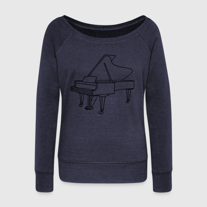 Piano Long Sleeve Shirts - Women's Wideneck Sweatshirt