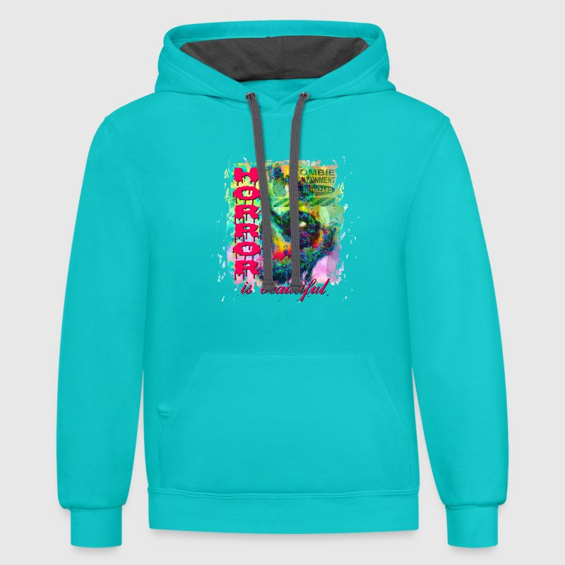 HORROR IS BEAUTIFUL - Contrast Hoodie
