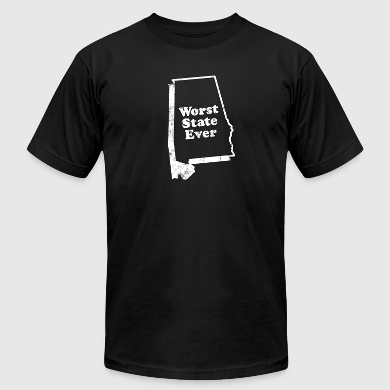 ALABAMA - WORST STATE EVER T-Shirts - Men's Fine Jersey T-Shirt