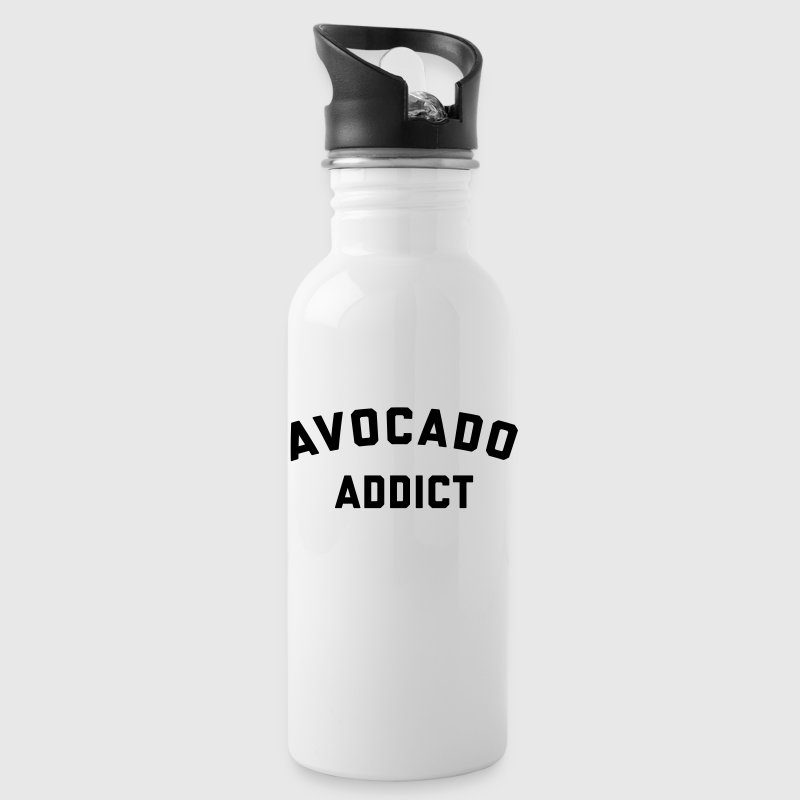 Avocado Addict Funny Quote Sportswear - Water Bottle