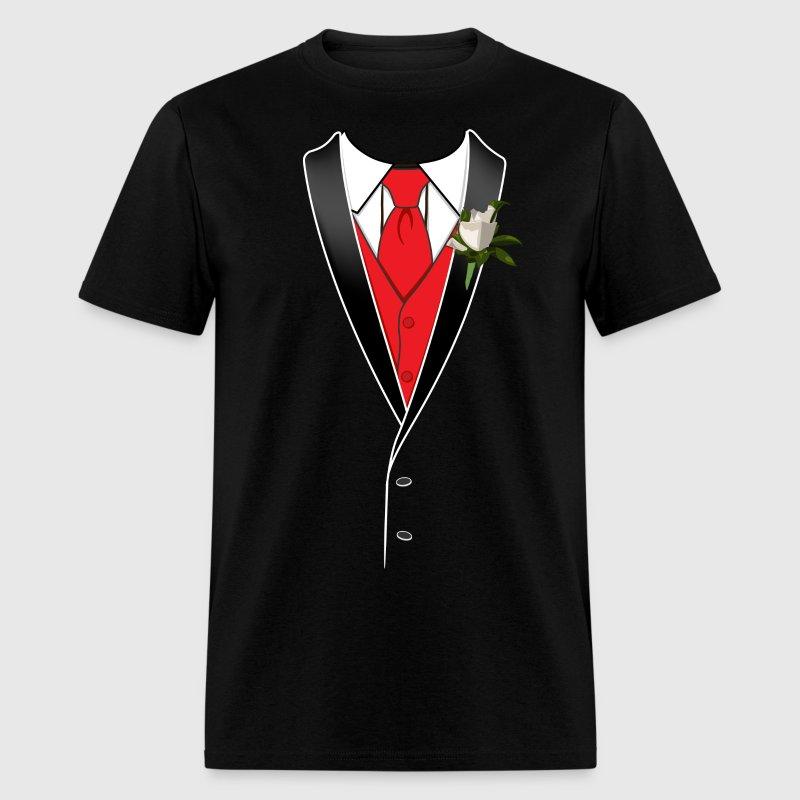 Prom tuxedo shirt t shirt spreadshirt for Tuxedo shirt vs dress shirt