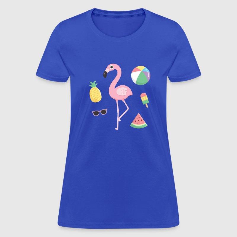 Flamingo Beach Summer T-Shirt | Spreadshirt