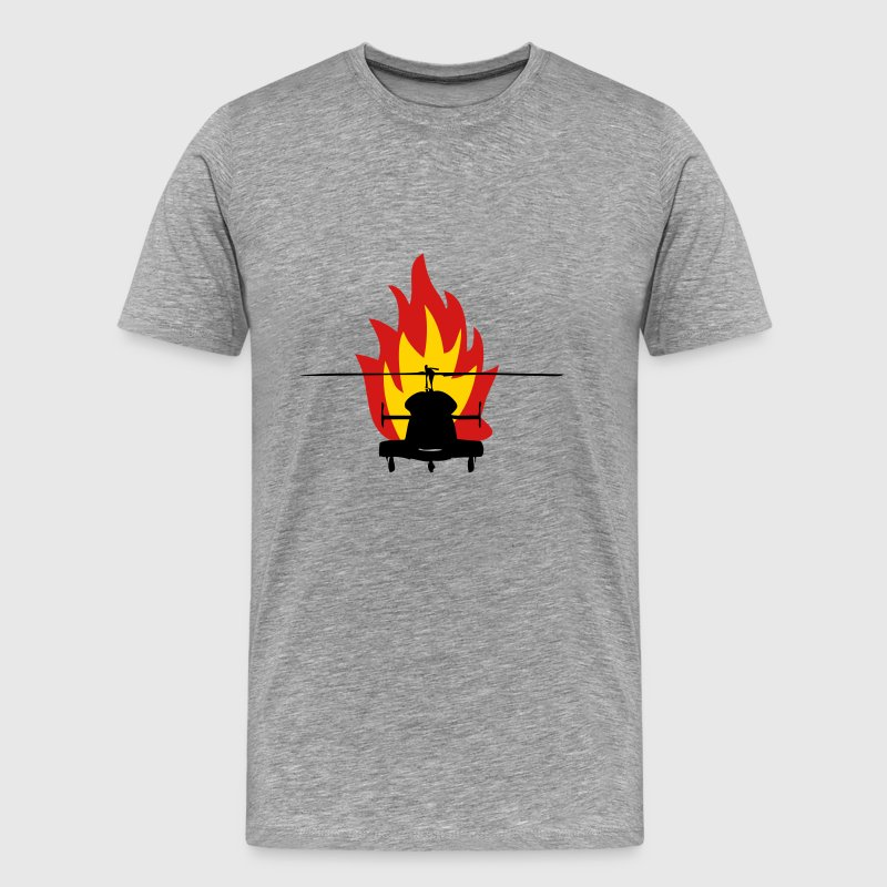 Helicopter fire - Men's Premium T-Shirt
