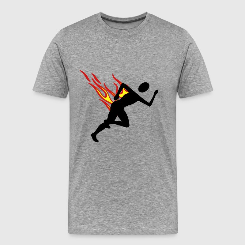 Jogger with flames - Men's Premium T-Shirt