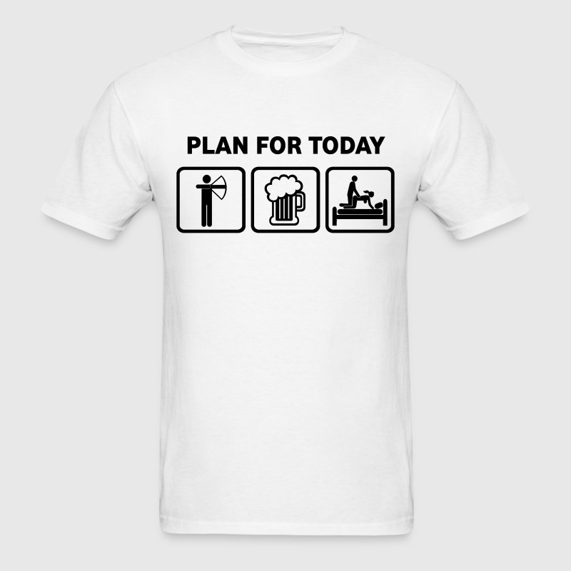 Archery Plan For Today - Men's T-Shirt