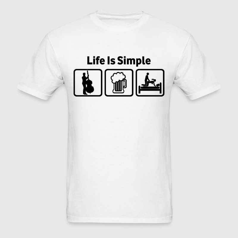 Doublebass Life Is Simple - Men's T-Shirt