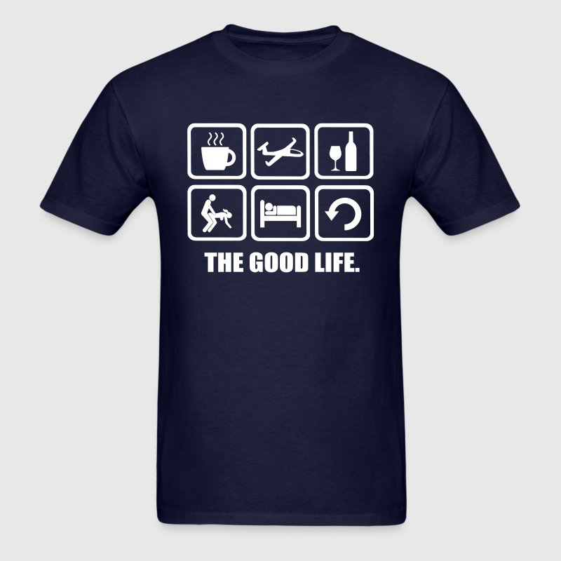 Funny Gliding The Good Life - Men's T-Shirt