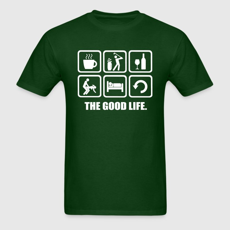 Rude Golf Shirt The Good Life - Men's T-Shirt