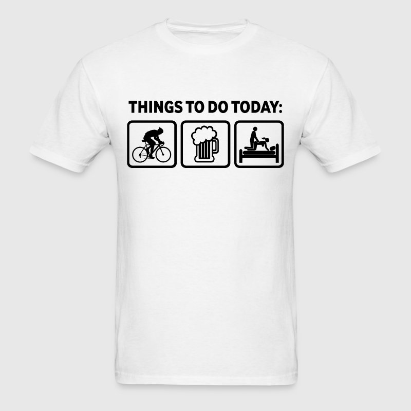 Funny Cycling Things To Do Today - Men's T-Shirt