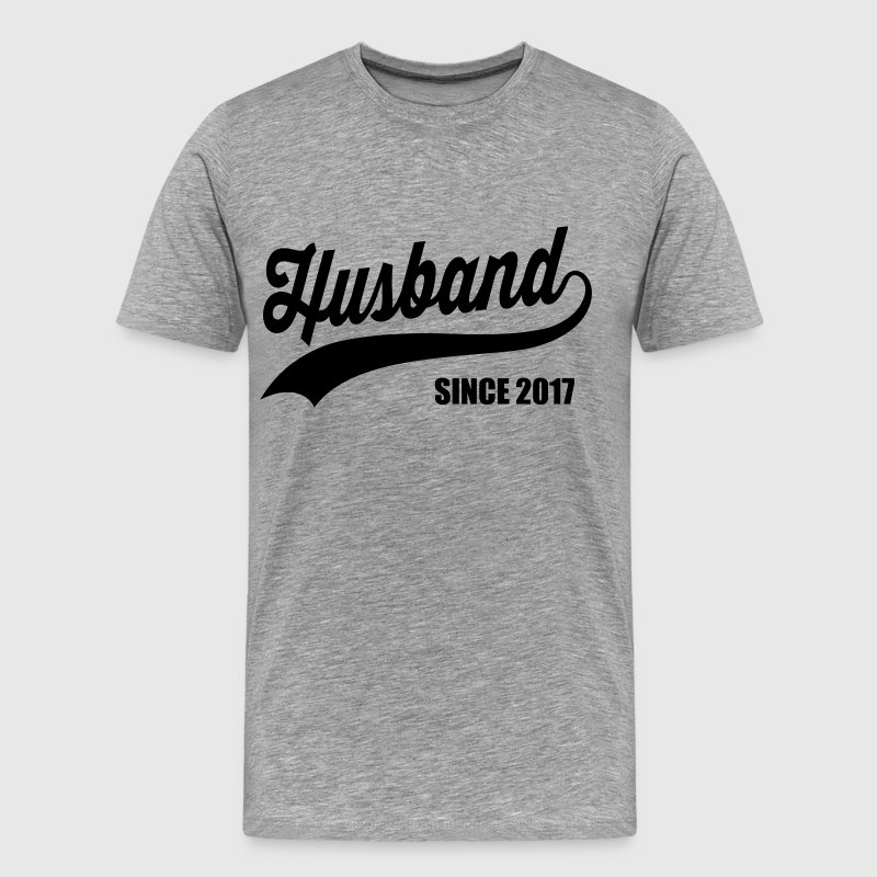 Husband Since 2017 T-Shirts - Men's Premium T-Shirt