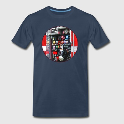 Colorful Gauges on Fire Truck Sportswear - Men's Premium T-Shirt