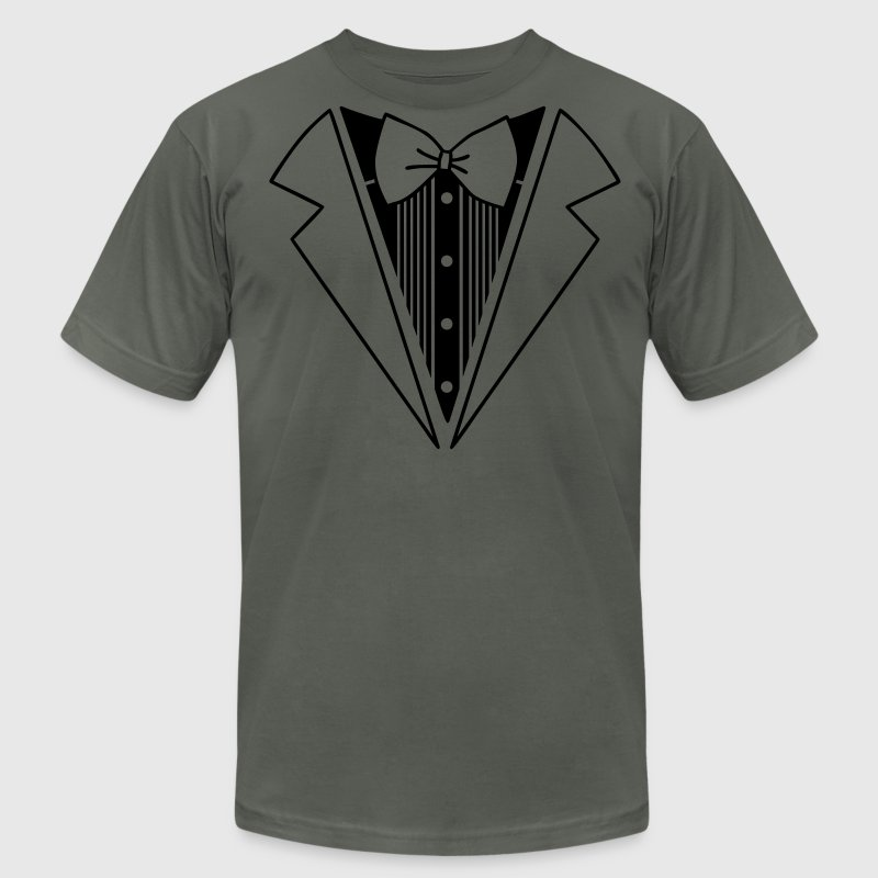 suit T-Shirts - Men's T-Shirt by American Apparel