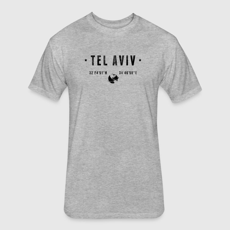 Tel Aviv T-Shirts - Fitted Cotton/Poly T-Shirt by Next Level