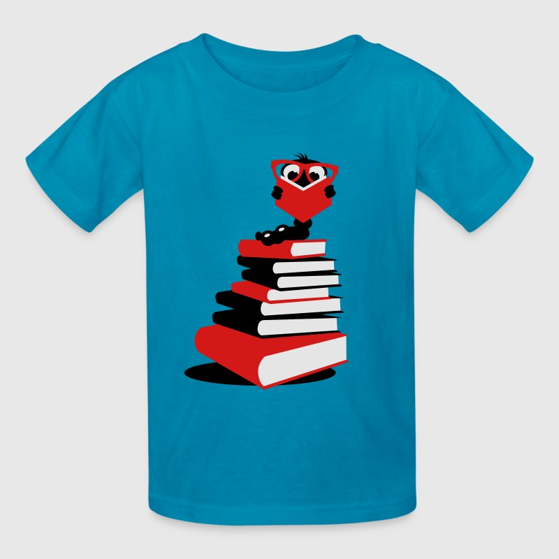 A bookworm reading Kids' Shirts - Kids' T-Shirt
